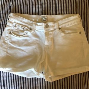J Crew white denim shorts - size 26